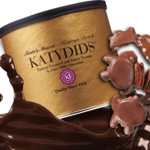 Katydids candy tin